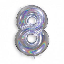 8 Glitter Silver