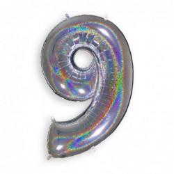 9 Glitter Silver