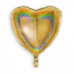 Heart Glitter Gold