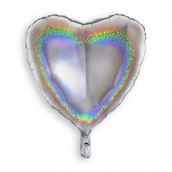 Heart Glitter Silver