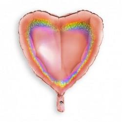 Heart Glitter Rose Gold
